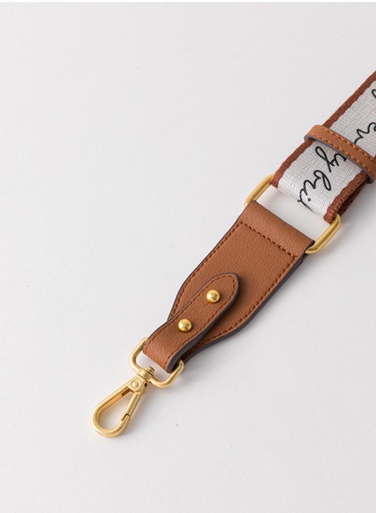 真皮品牌字母調整型背帶
