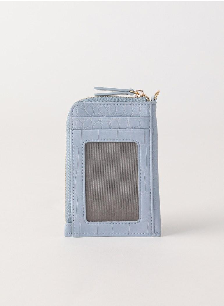 月光帷幕壓紋卡片夾零錢包