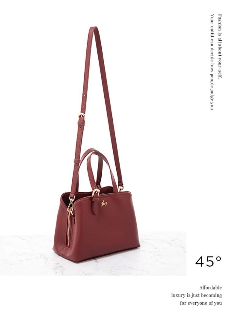 古董色調的浪漫多夾層小手提包