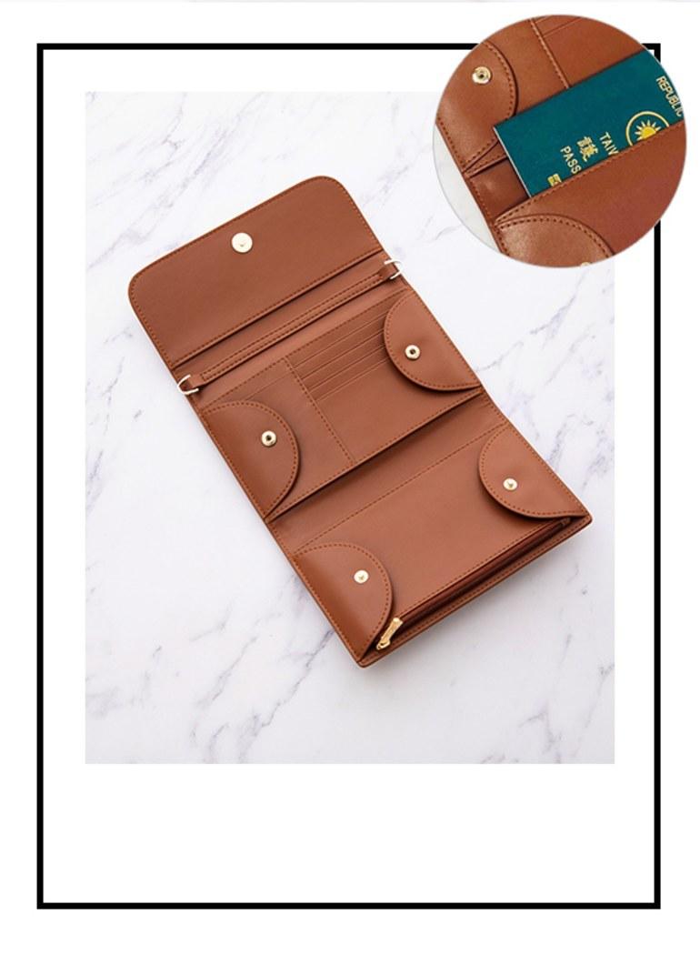 甜蜜啟程真皮RFID防盜刷皮夾護照夾