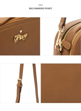 古董色調的浪漫多夾層側背包